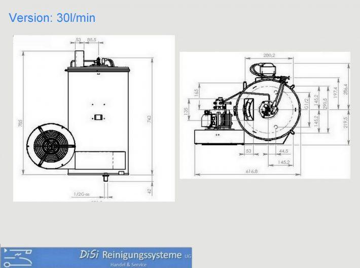 Heißwasser-Hochdruckreiniger-Hotebox-Skizze