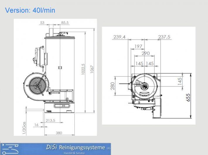 Heißwasser-Hochdruckreiniger-Hotbox-Skizze