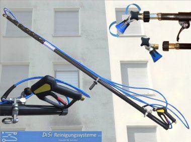 Fassadenreinigung-Teleskoplanze-14m-Carbon