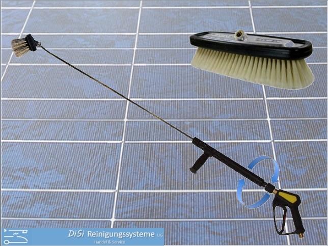 Photovoltaik-Reinigungsset-Solar-Lanze-Bürste