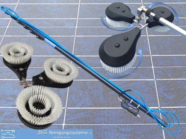 Photovoltaik-Solar-Reinigungsset-Teleskplanze-Waschbürste