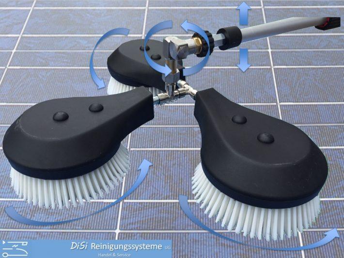 Photovoltaik-Solar-Waschbürste-Rotierend