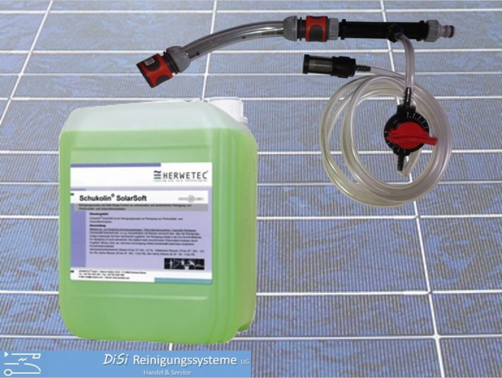 Photovoltaik-Reinigungsset-Waschbürste-Rotierend