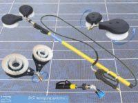 Photovoltaik-ReinigungssetTeleskoplanze-Waschbürste